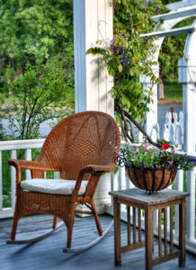 Porch at McCloud Hotel Bed and Breakfast