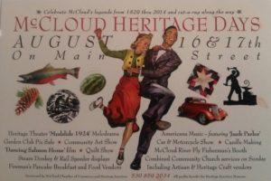 McCloud Heritage Days 2014